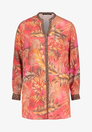 Blouse - red/camel