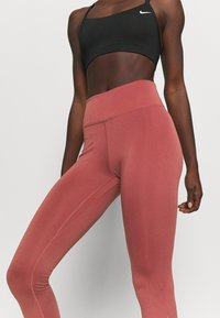 Nike Performance - ONE GOOD - Leggings - claystone red/gold - 5
