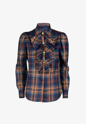 LUTER - Button-down blouse - var blu/tabacco