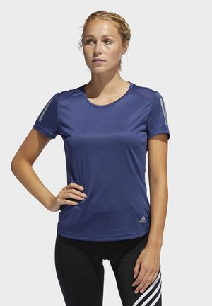OWN THE RUN T-SHIRT - Camiseta estampada - tech indigo