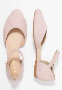 Pier One Wide Fit - Ankle strap ballet pumps - rose - 3