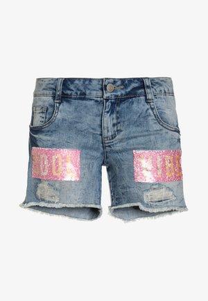 Denim shorts - light blue denim/blue