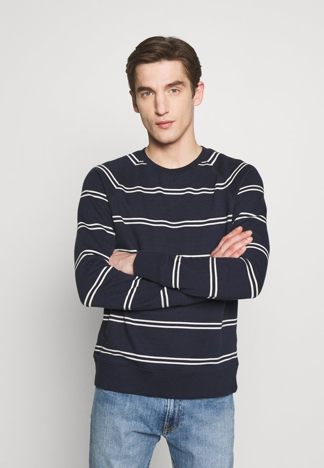 Sweatshirt - navy/white