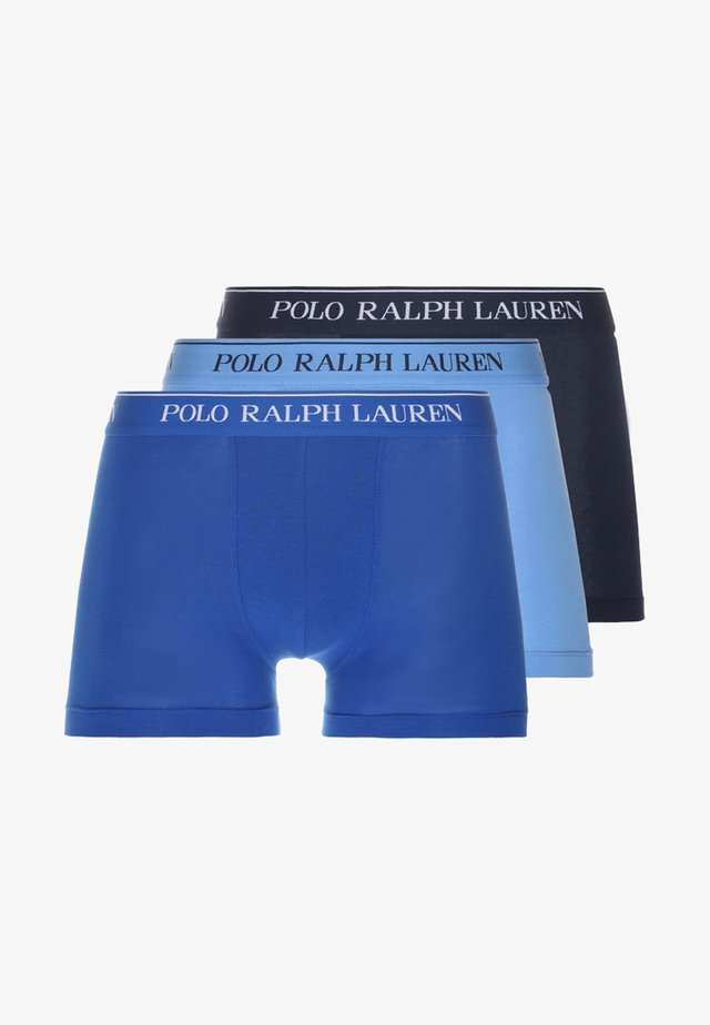 POUCH TRUNKS 3 PACK - Panties - dark blue/blue/light blue
