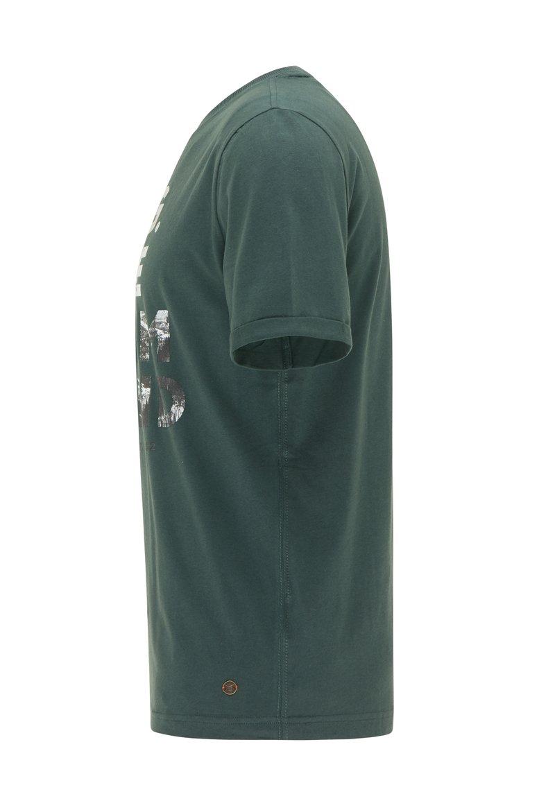 Mustang T-Shirt print - grün/dunkelgrün GObjxc