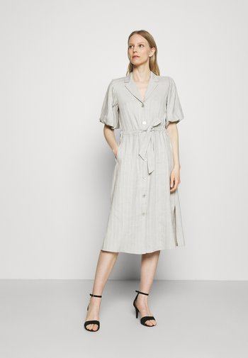 DELANY - Shirt dress - steel grey melange