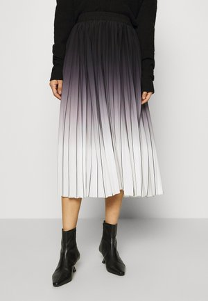 MANNO - Pleated skirt - caviar