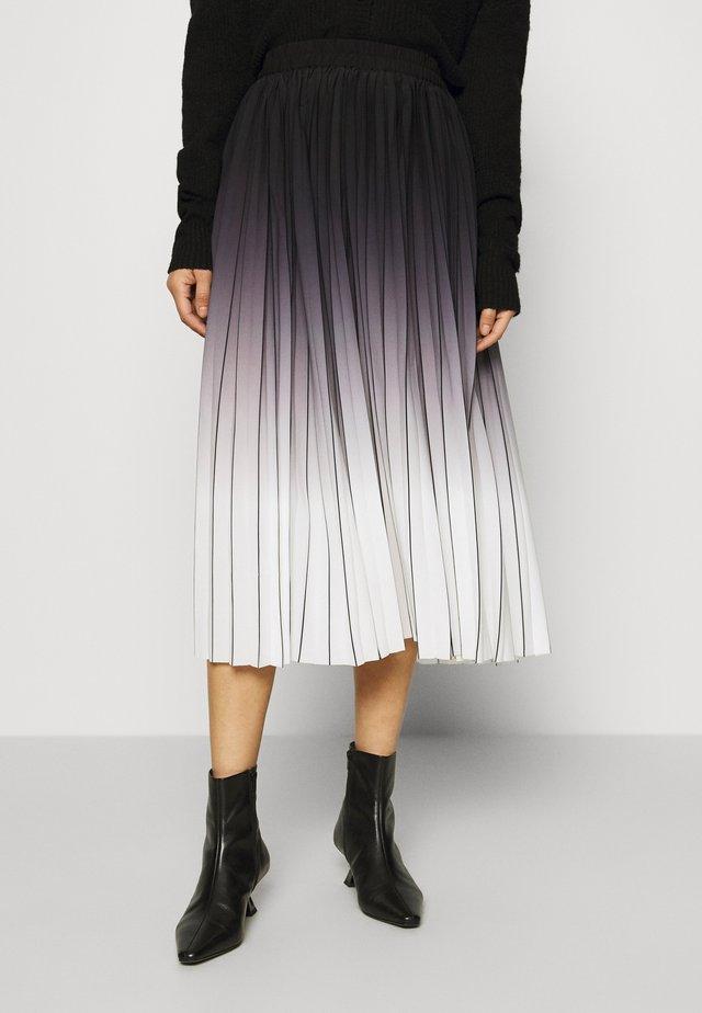 MANNO - Pleated skirt - caviar