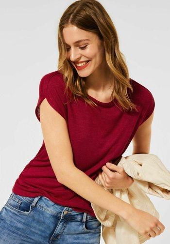 IM LEINEN LOOK - Basic T-shirt - rot