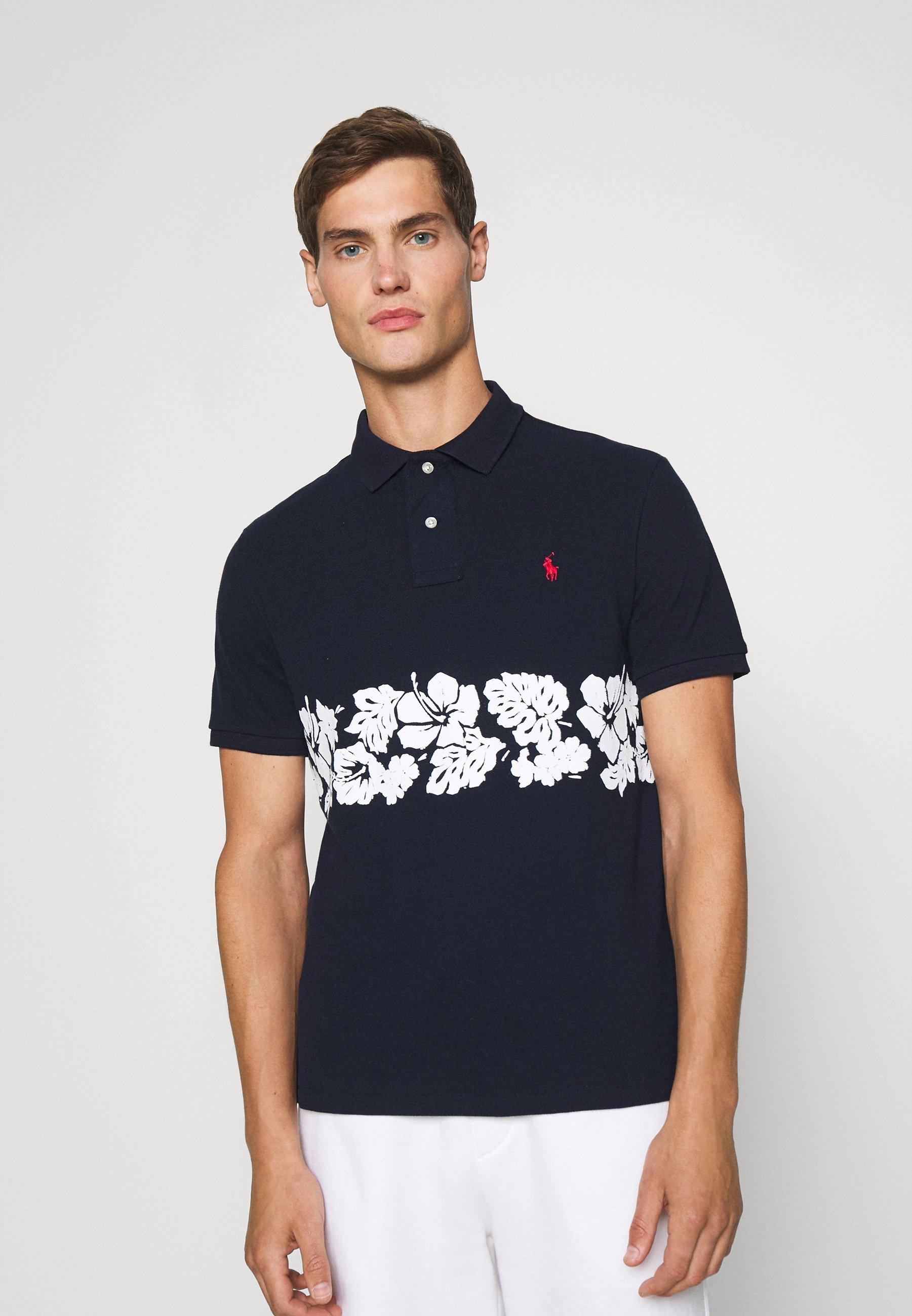 Men CUSTOM SLIM FIT FLORAL MESH POLO SHIRT - Polo shirt