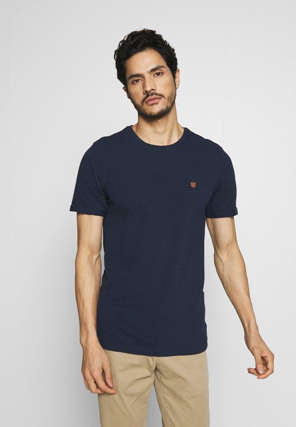 Jack & Jones PREMIUM JPRBLAHARDY TEE CREW NECK - T-shirt basic - black iris/czarny Odzież Męska RODF