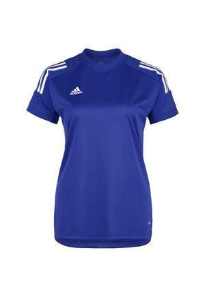 Print T-shirt - royal blue / white