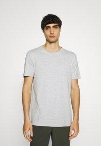 Pier One - 7 PACK - T-shirts basic - white/black/grey - 1