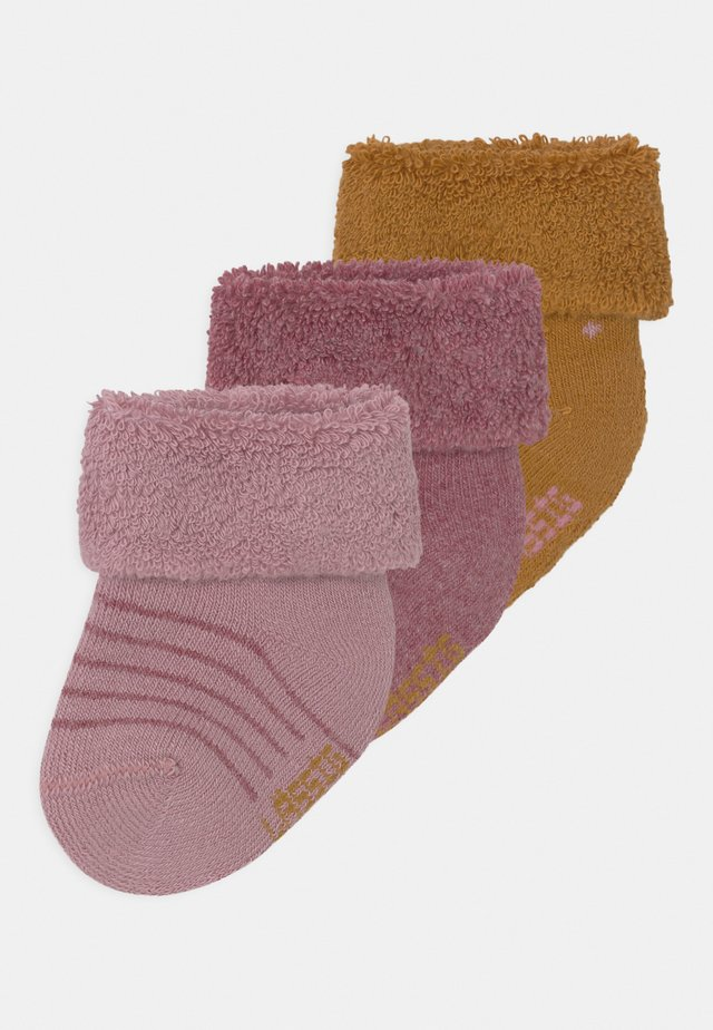 NEWBORN 3 PACK - Chaussettes - rose