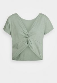 Cotton On Body - LIFESTYLE TWIST BACK TEE - T-shirts med print - washed aloe - 1