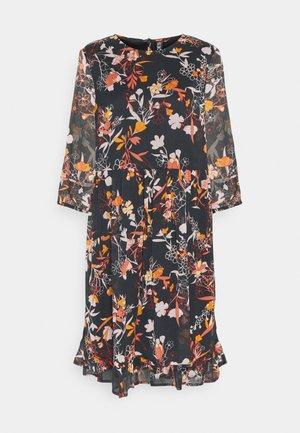 PCFLOWIN 3/4 SLEEVE DRESS - Sukienka letnia - black