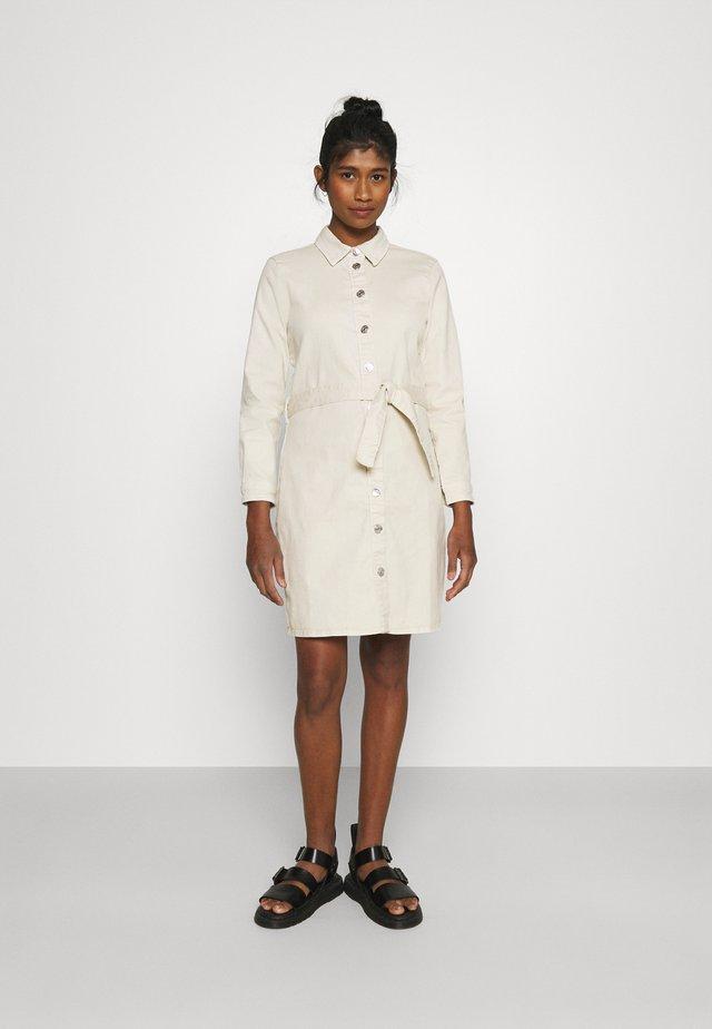 ONLLAUREL LIFE FRILL DRESS - Shirt dress - eggnog