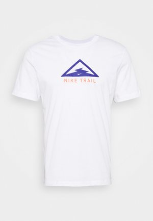 DRY TEE TRAIL - Camiseta estampada - white/astronomy blue