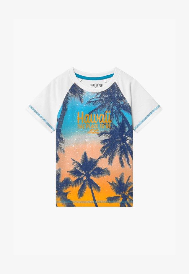 SMALL BOYS TROPICAL - Print T-shirt - white
