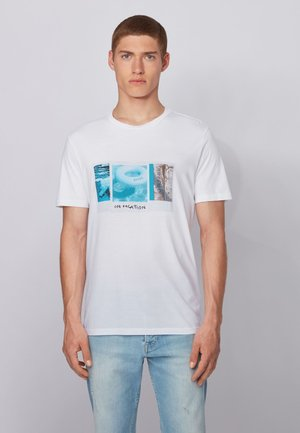 TMIX - T-shirt med print - white