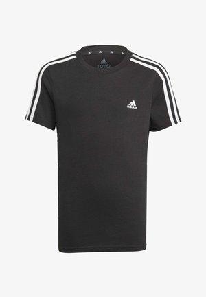 ADIDAS ESSENTIALS 3-STRIPES T-SHIRT - Camiseta estampada - black