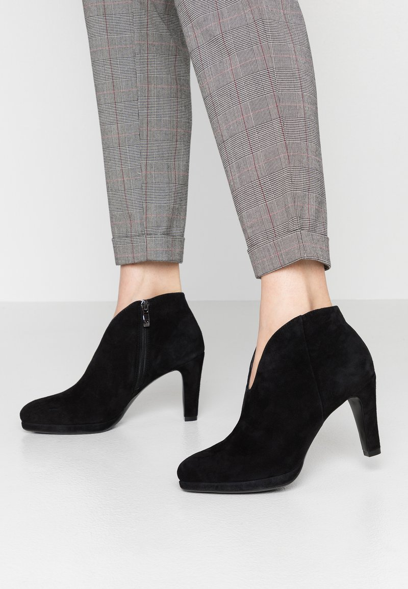 Caprice - High heeled ankle boots - black