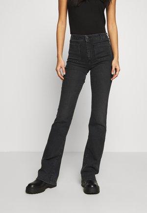 Flared jeans - black sea