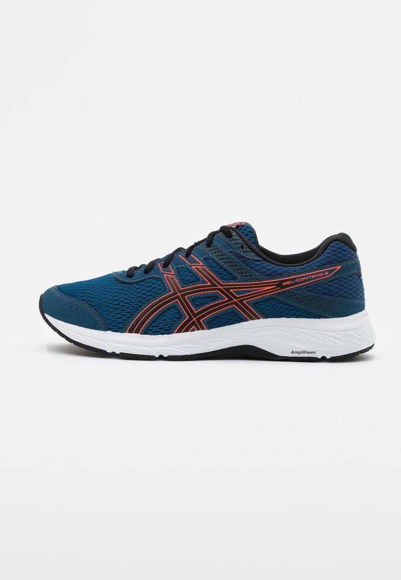 ASICS - GEL CONTEND 6 - Neutral running shoes - mako blue/sunrise red