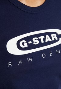 G-Star - GRAPHIC  - Print T-shirt - sartho blue - 5