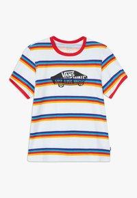 Vans - STRIPE - T-shirt z nadrukiem - white/caribbean sea - 0