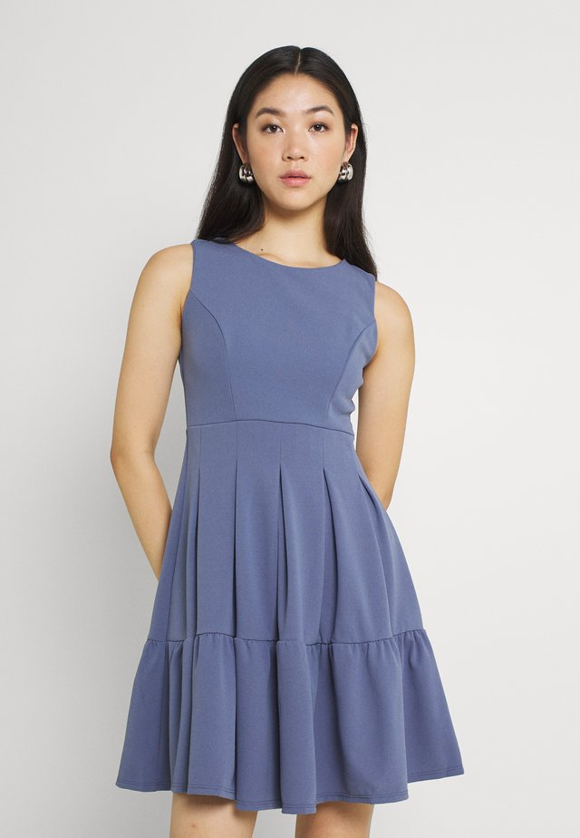 NICOLA SKATER DRESS - Jersey dress - indigo blue