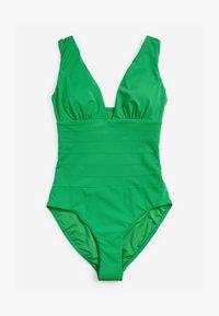 Next - SCULPT AND SHAPE PINTUCK PLUNGE - Swimsuit - green - 0