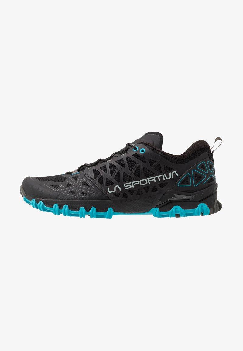 La Sportiva - BUSHIDO II - Trail running shoes - black/tropic blue