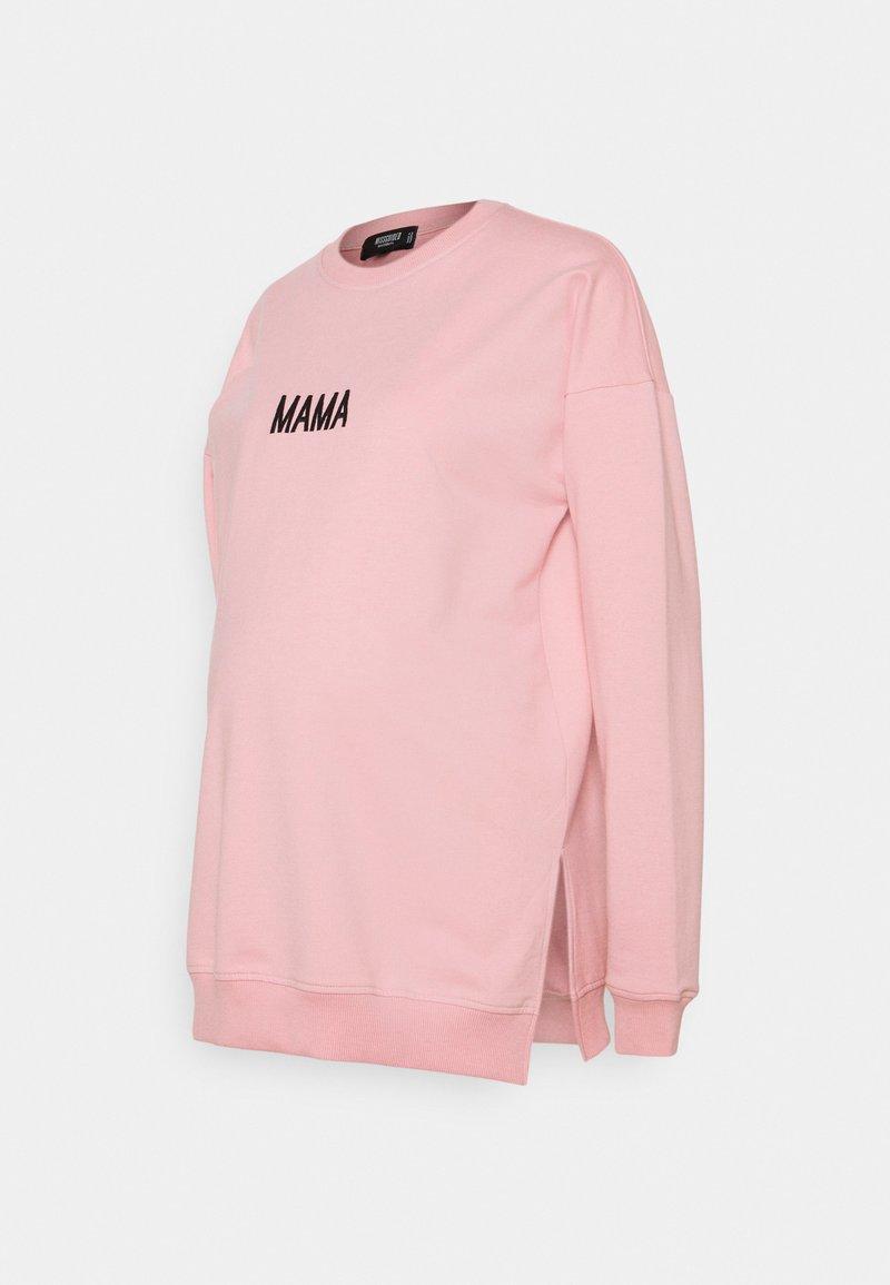 Missguided Maternity - MATERNITY MAMA  - Sweatshirt - light pink