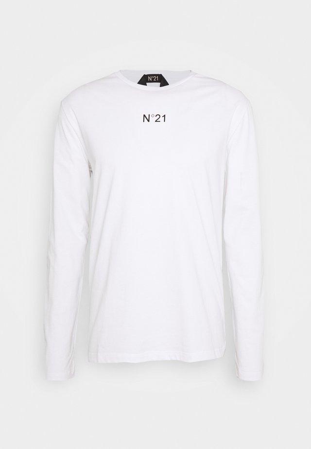 Langærmede T-shirts - bianco ottico