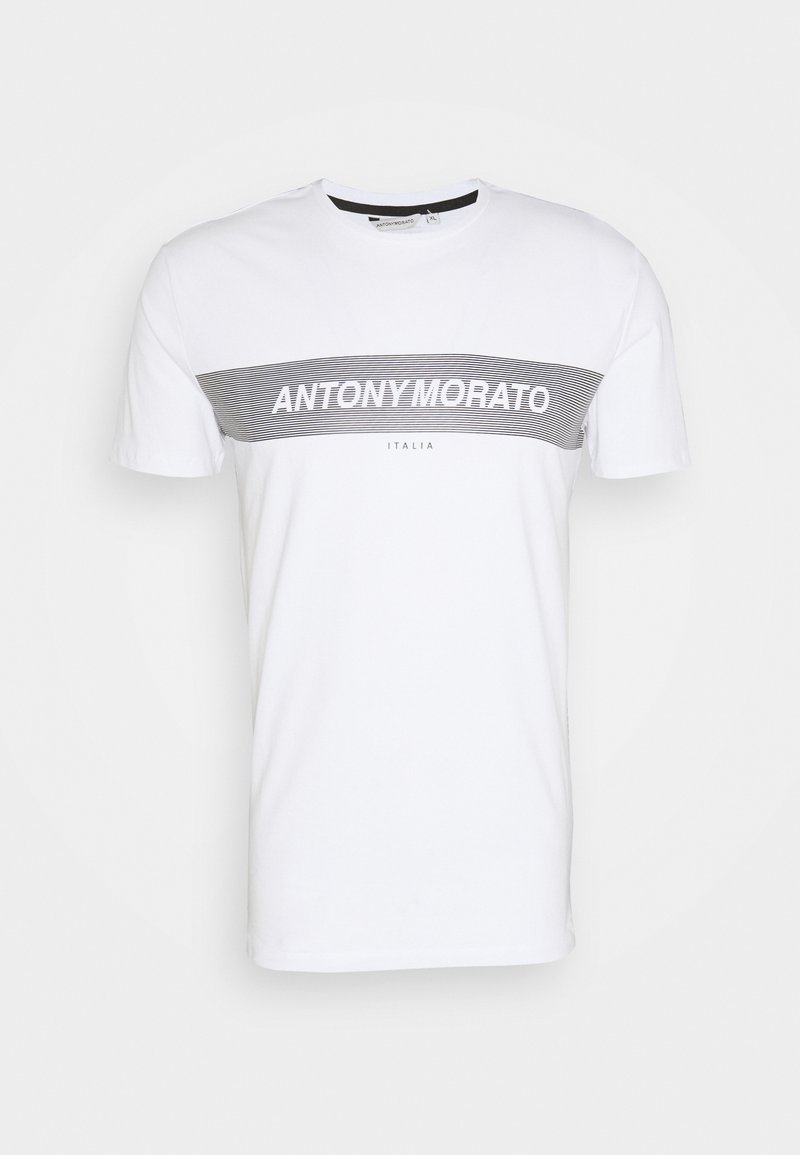 Antony Morato - ROUND COLLAR WITH FRONT - T-shirt print - white