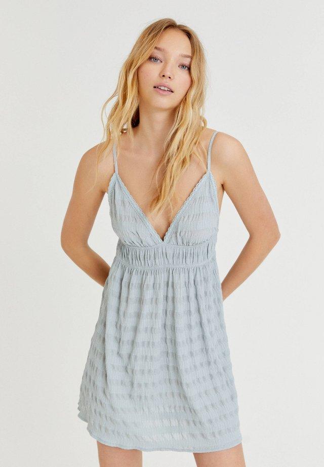 Denní šaty - mottled light blue