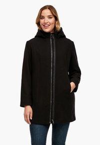 Triangle - MIT REISSVERSCHLUSS-DETAIL - Classic coat - black - 0
