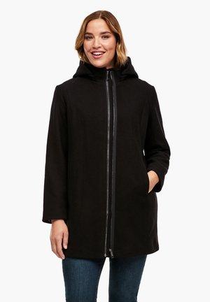 MIT REISSVERSCHLUSS-DETAIL - Classic coat - black