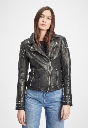 DAMEN BIKERJACKE GWSHEA LAWOV - Leather jacket - black