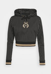 SIKSILK - BASEBALL STRIPE CROPPED HOODIE - Hoodie - black - 3
