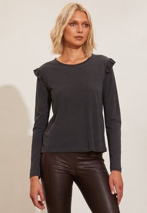 GABRIELLE - Long sleeved top - almost black