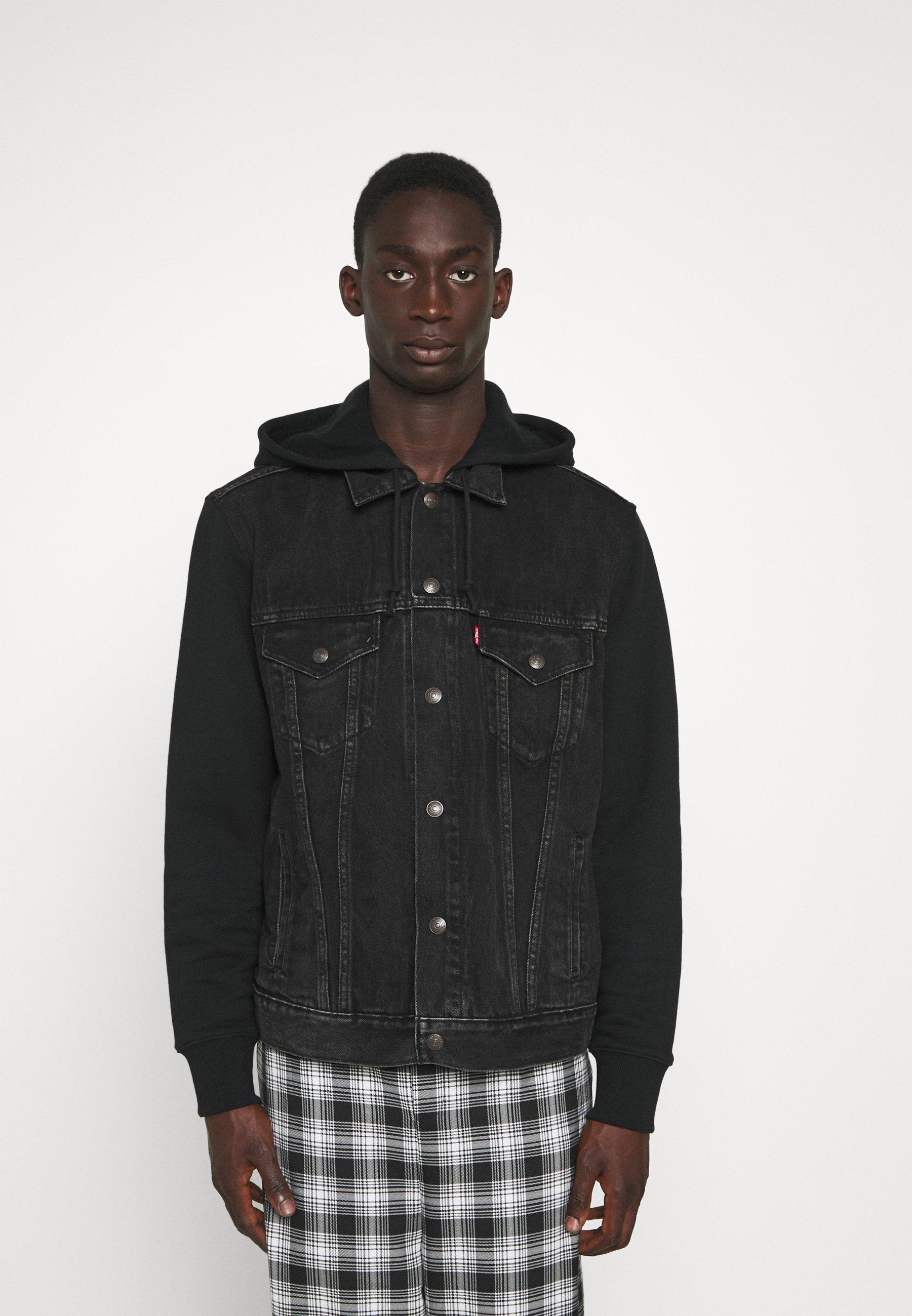 Uomo HYBRID HOODIE TRUCKER - Giacca di jeans