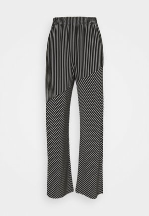 Kalhoty - black/white