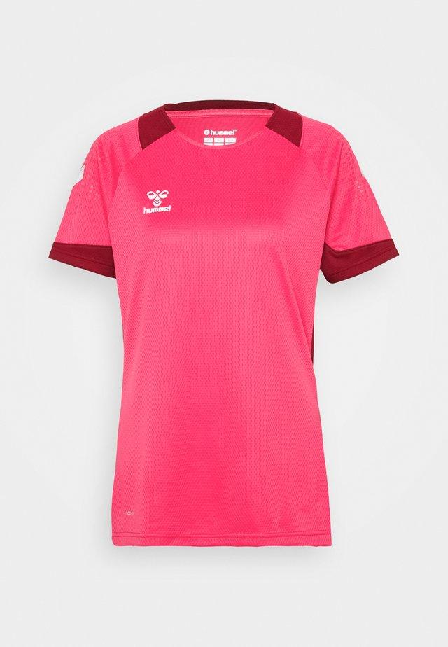 HMLLEAD WOMEN - T-shirt imprimé - raspberry sorbet