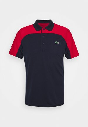 TENNIS - Polo - navy blue/ruby/white