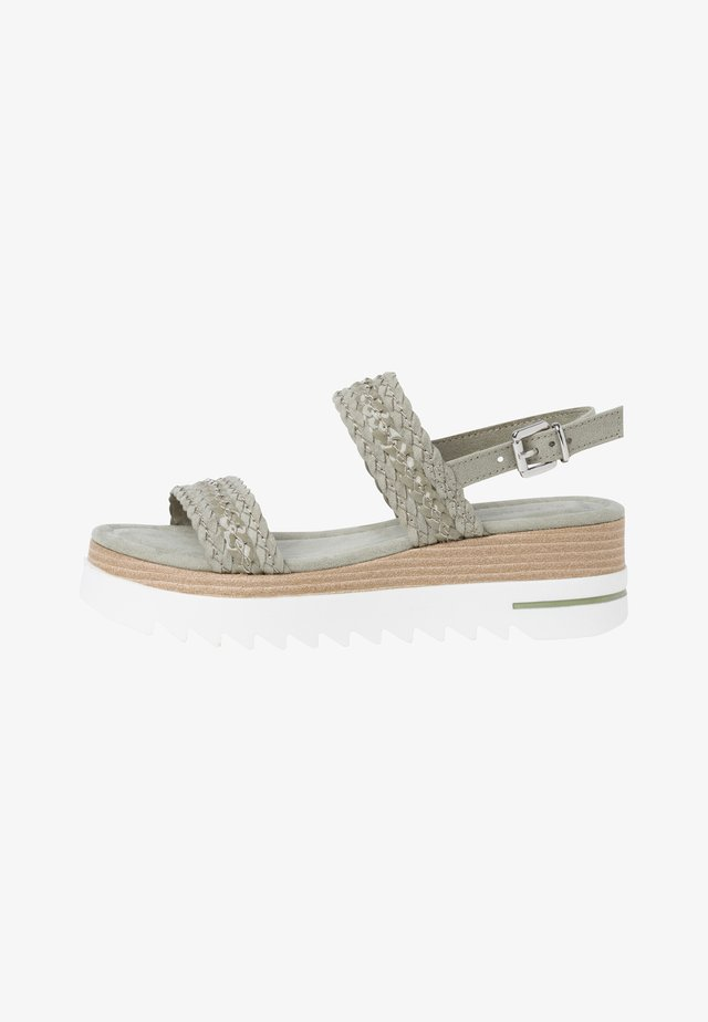 Sandalen met plateauzool - khaki
