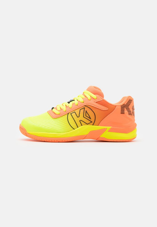 ATTACK 2.0 JUNIOR UNISEX - Handbalschoenen - flou orange/flou yellow