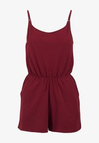 Urban Classics - LADIES SHORT SPAGHETTI - Jumpsuit - burgundy - 3