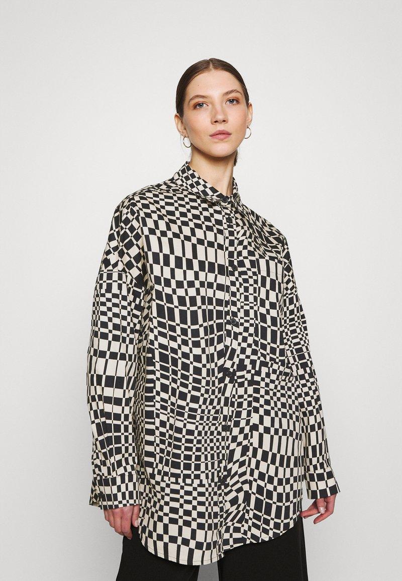 Monki - Button-down blouse - black